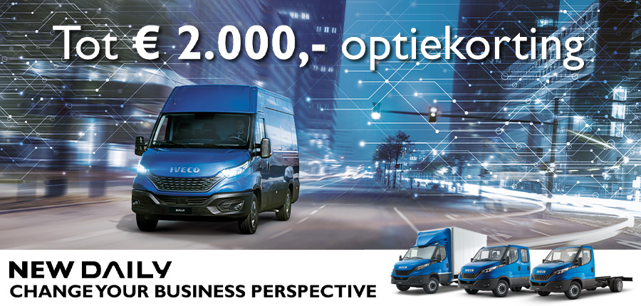 IVECO DAILY, nu met €2000,00 optiekorting